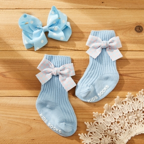 2-pack Baby / Toddler Bowknot Socks and Hairband set