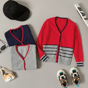 Baby / Toddler Colorblock Striped Long-sleeve Knitwear