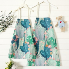 Cactus Plant Print Family Matching Aprons