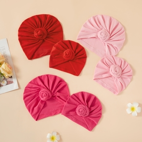 100% Cotton Colorful Hats for Mommy and Me