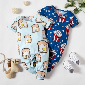 Baby Boy Cute Food Pattern Jumpsuits