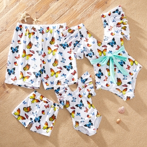 Butterfly Print Onepiece Family Matching Swimsuits