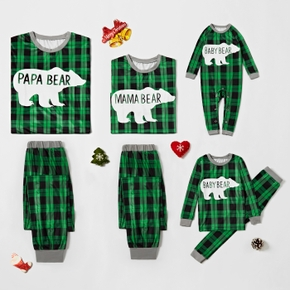 Plaid Bear Family Matching Pajamas Sets