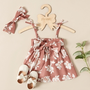 Baby Girl Floral Sweet Knee Length Dress