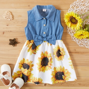 Toddler Girl Sunflower Sleeveless Dress