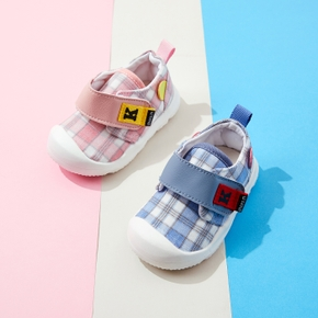 Toddler Grid Velcro Closure Casual Shoes