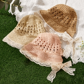 Toddler / Kid Flounced Lace Bowknot Hat