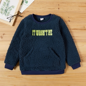 Kid Unisex Letter Embroidered Pullover