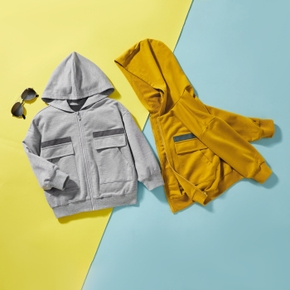 Baby/Toddler Boy Solid Street Style Coats