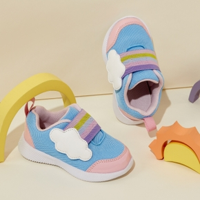 Toddler / Kid Cloud Velcro Closure Colorblock Breathable Sports Shoes