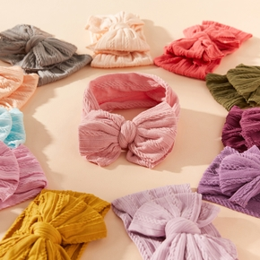 Solid Bowknot Hairbands for Girls