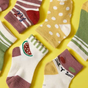 5-pack Baby Fruit Knitted Socks