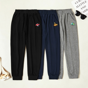 Trendy Car Embroidered Elasticized Pants