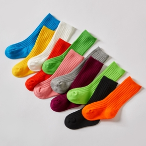 3-pack Baby / Toddler / Kid Solid Knitted Socks