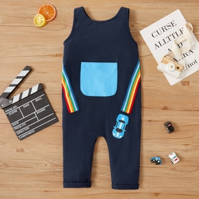 Toddler Boy Car Print Jumpsuit
