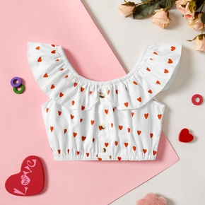 Baby/Toddler Girl Off Shoulder Heart Top of Valentine