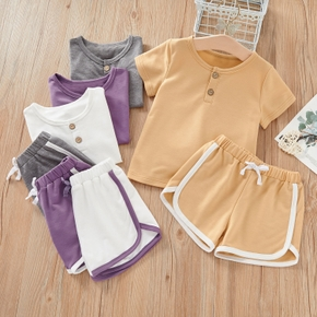 2-piece Baby / Toddler Casual Splice Tee and Shorts Set
