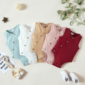 1pc Baby Girl Sleeveless casual Rompers & Bodysuits