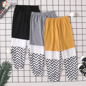 Color Block Wave Athleisure Pants for Toddlers / Kids