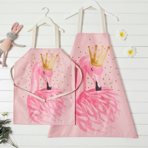 Mommy and Me Flamingo Print Aprons