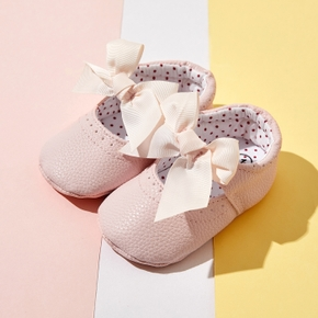 Baby / Toddler Sweet Solid Bowknot Decor Princess Prewalker Shoes