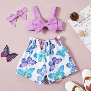 3pcs baby Girl Sling Cotton Floral Print Cotton&Polyester Summer More Festivals Sets Baby's Sets