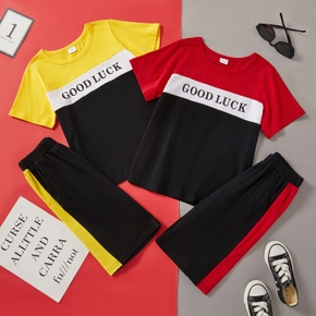Fashionable Kid Boy Color-block Casual Set
