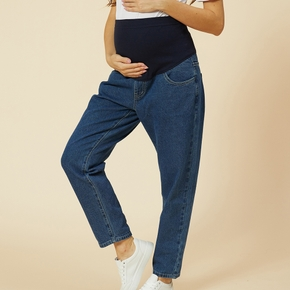Maternity casual Plain Print Relaxed fit jeans