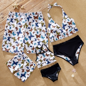 Butterfly Print Family Matching Swimsuits