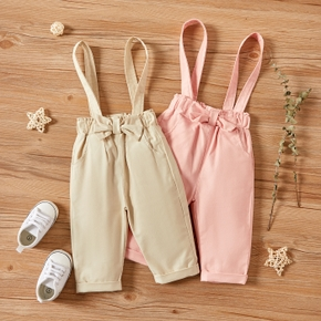 1pc Baby Girl Cotton Spring Summer Solid Bowknot Pants