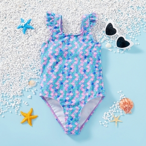 Pretty  Suspender Mermaid Swimsuit
