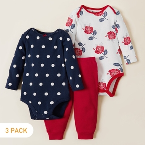 3-pack Sweet Floral Baby's Sets