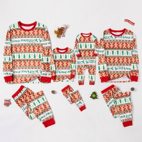 Family Matching Gingerbread Man Print Christmas Pajamas Sets
