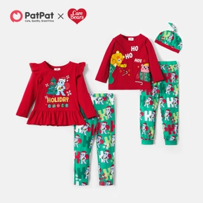 Care Bears Ho Ho Ho Tee and Legging Sibling Sets with Hat and Bow