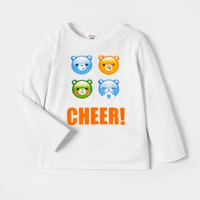 Care Bears Cheer Emoji Cotton Long-sleeves Tee