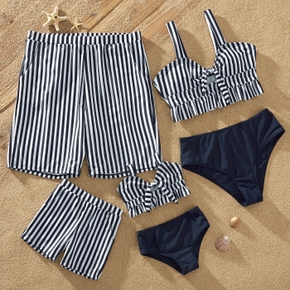 Solid and Stripe Family Matching Swimsuits