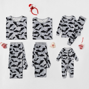 Family Matching Bat Print Pajamas Sets