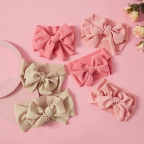Bowknot Solid Color Headbands for Mommy and Me