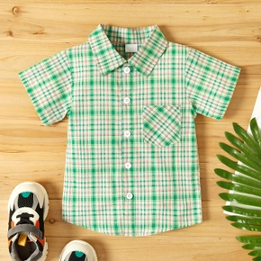 Toddler Boy Preppy style Plaid Shirt