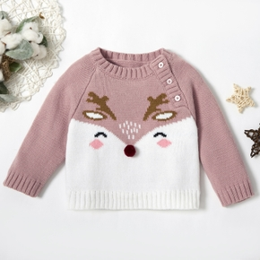Baby Girl Elk Sweaters