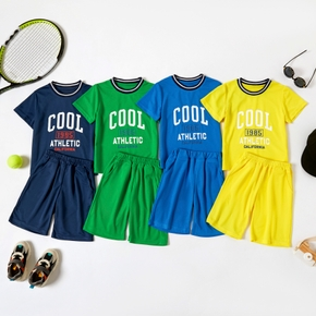 Multi-color Letter Print Athletic Set for Toddlers/Boys