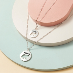 Bear Pattern Print Matching Necklaces for Mommy and Me