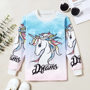 Trendy Unicorn Letter Print Sweatshirt
