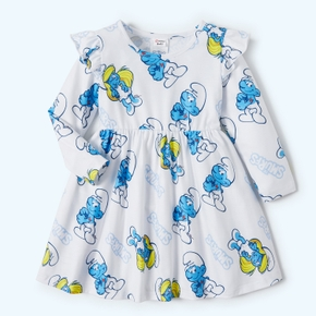 Smurfs  Baby/Toddler Girl Flounced Long-sleevesDress