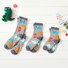 Cute Dinosaur Print Socks for Family