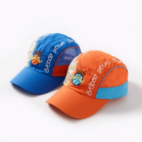 Letter Print Mesh Athleisure Cap for Toddlers / Kids