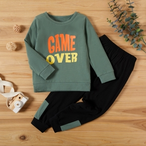 2-piece Baby / Toddler Boy Letter Top and Pants Set