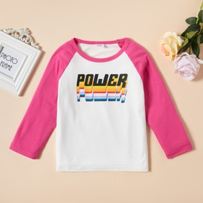Toddler Unisex Casual Letter Tee