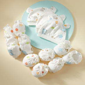 3-piece Baby Cartoon Hat and Glove and Socks set
