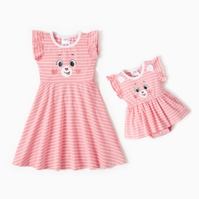 Care Bears Sibling Cotton Stripe Dress and Romper Sister Set